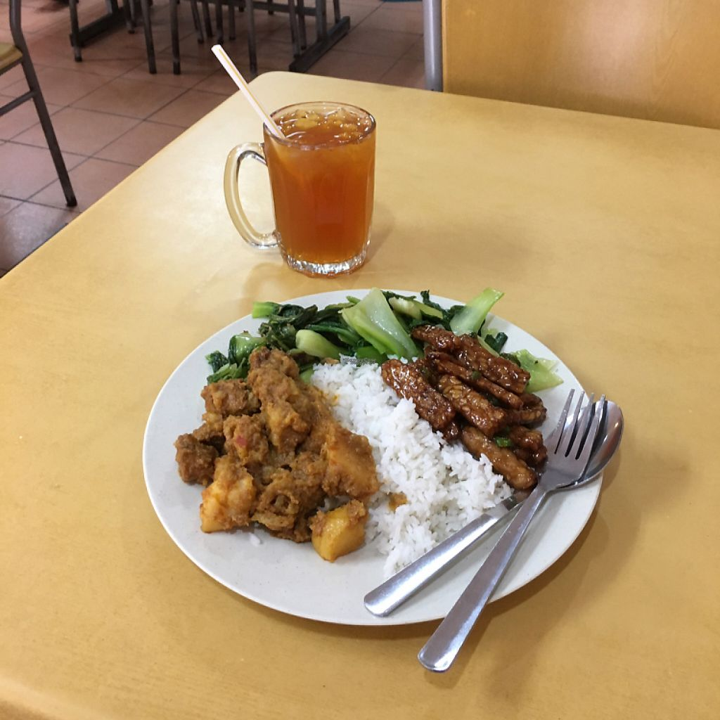"Photo of Loving Garden  by <a href=""/members/profile/Spaghetti_monster"">Spaghetti_monster</a> <br/>iced lemon tea and rice with tempeh, greens and curry <br/> March 17, 2017  - <a href='/contact/abuse/image/23469/237293'>Report</a>"