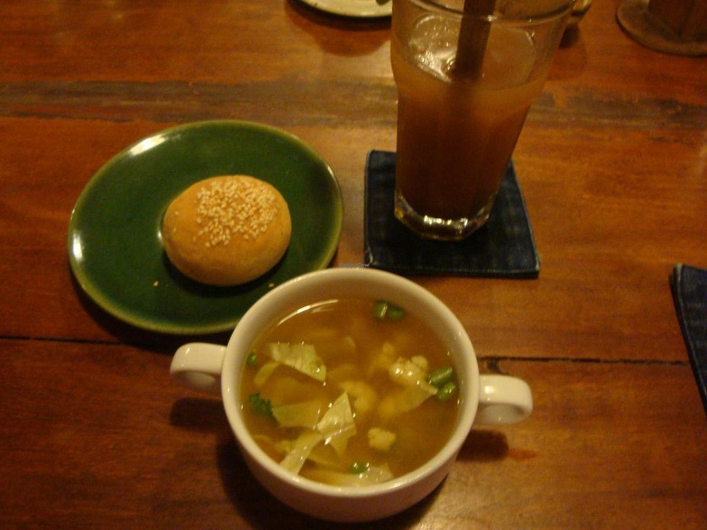 """Photo of Sopa - Jalan Sugriwa  by <a href=""""/members/profile/Sonja%20and%20Dirk"""">Sonja and Dirk</a> <br/>soup and tamarind lemonade <br/> June 12, 2014  - <a href='/contact/abuse/image/23473/71923'>Report</a>"""