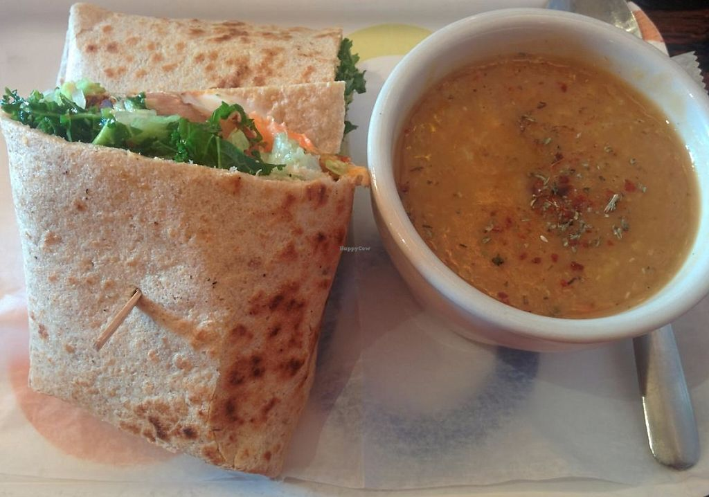 "Photo of Pasha Mezze  by <a href=""/members/profile/VeganSoapDude"">VeganSoapDude</a> <br/>red lentil wrap and lentil soup  <br/> January 6, 2015  - <a href='/contact/abuse/image/23578/232647'>Report</a>"
