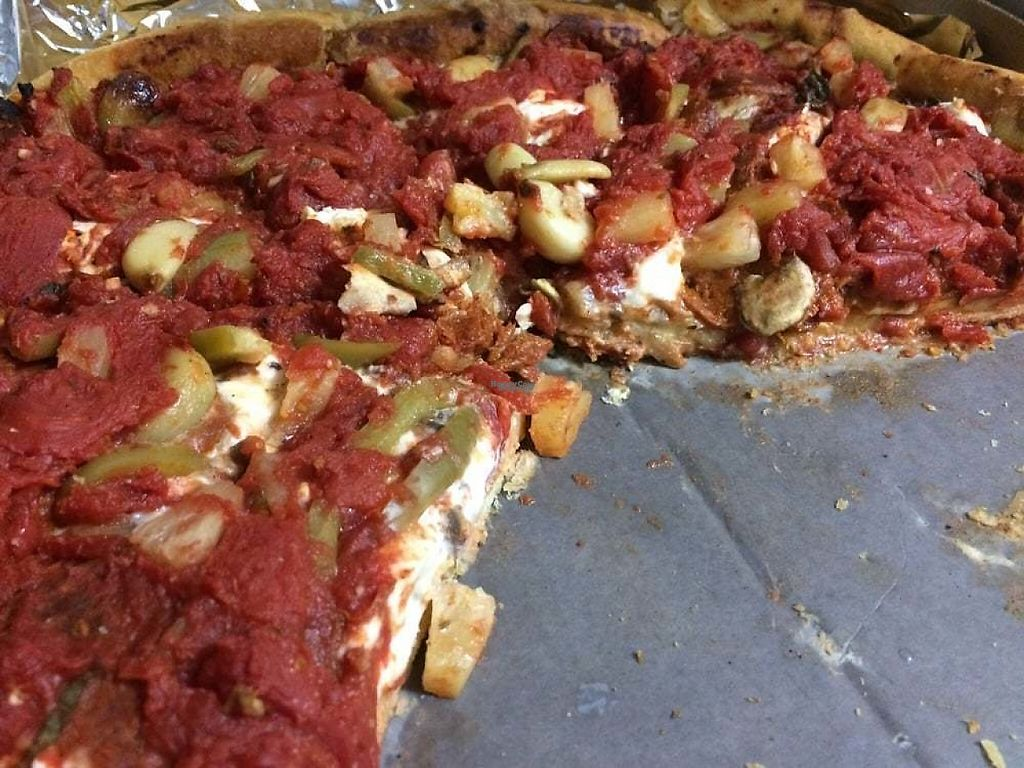 """Photo of Masa of Echo Park  by <a href=""""/members/profile/debbitage"""">debbitage</a> <br/>The vegan deep-dish pizza as ordered with our choice of toppings.  <br/> March 25, 2017  - <a href='/contact/abuse/image/23584/240774'>Report</a>"""
