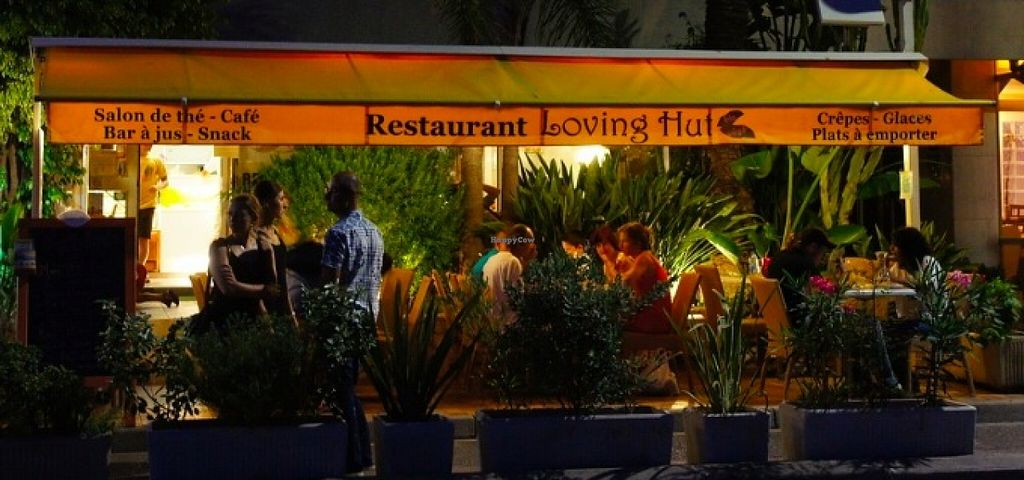 """Photo of Loving Hut - Menton  by <a href=""""/members/profile/MilaY"""">MilaY</a> <br/>almost 10pm in the summer time; still vigorous with customers!!  <br/> September 11, 2015  - <a href='/contact/abuse/image/23603/117326'>Report</a>"""