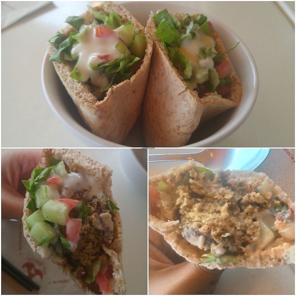 """Photo of Loving Hut - Menton  by <a href=""""/members/profile/Trambau"""">Trambau</a> <br/>Great chickpea falafel!! <br/> January 13, 2018  - <a href='/contact/abuse/image/23603/345994'>Report</a>"""
