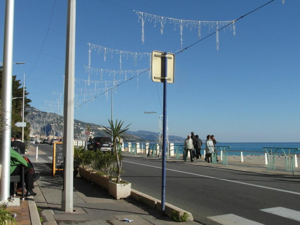 """Photo of Loving Hut - Menton  by <a href=""""/members/profile/Pamina"""">Pamina</a> <br/>View from Loving Hut, Menton <br/> January 5, 2015  - <a href='/contact/abuse/image/23603/89543'>Report</a>"""