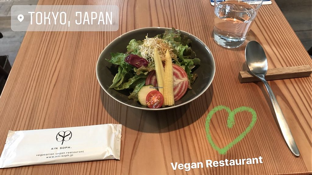 """Photo of Ain Soph.Ginza  by <a href=""""/members/profile/swiss_traveler"""">swiss_traveler</a> <br/>Starter Salad, which comes with every Menu <br/> November 1, 2017  - <a href='/contact/abuse/image/23681/320681'>Report</a>"""