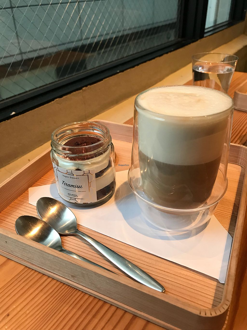 """Photo of Ain Soph.Ginza  by <a href=""""/members/profile/vegetariangirl"""">vegetariangirl</a> <br/>Tea time tiramisu and soy latte <br/> February 10, 2018  - <a href='/contact/abuse/image/23681/357202'>Report</a>"""