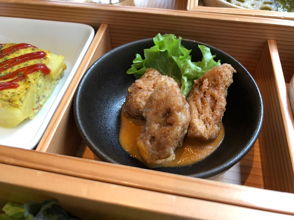 """Photo of Ain Soph.Ginza  by <a href=""""/members/profile/SamanthaIngridHo"""">SamanthaIngridHo</a> <br/>Deep fried soy meat <br/> April 20, 2018  - <a href='/contact/abuse/image/23681/388697'>Report</a>"""