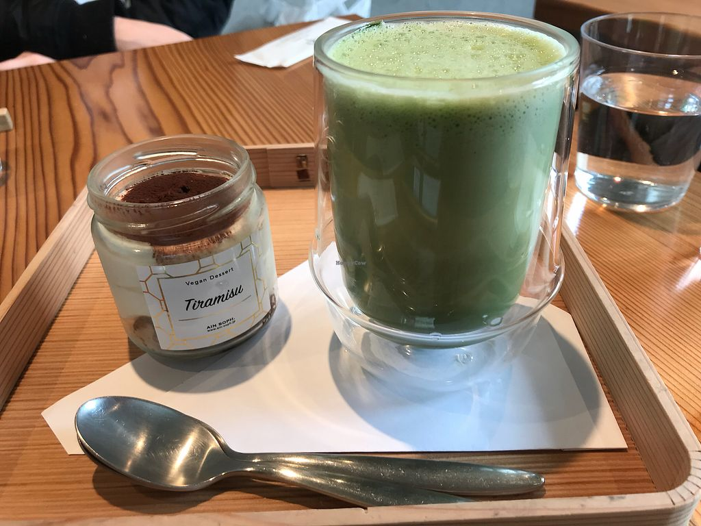 """Photo of Ain Soph.Ginza  by <a href=""""/members/profile/Emilieomeara"""">Emilieomeara</a> <br/>Matcha latte and tirimasu <br/> April 27, 2018  - <a href='/contact/abuse/image/23681/391579'>Report</a>"""