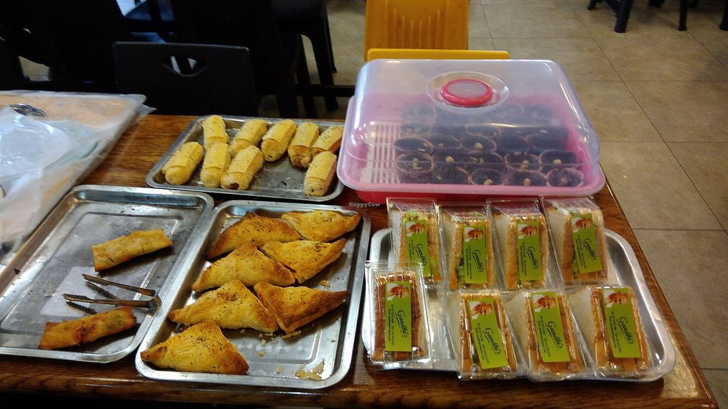 """Photo of Gandhi's Vegetarian Restaurant  by <a href=""""/members/profile/ChoyYuen"""">ChoyYuen</a> <br/>Vegetarian puff pastry, sandwiches, etc <br/> April 12, 2018  - <a href='/contact/abuse/image/23773/384268'>Report</a>"""