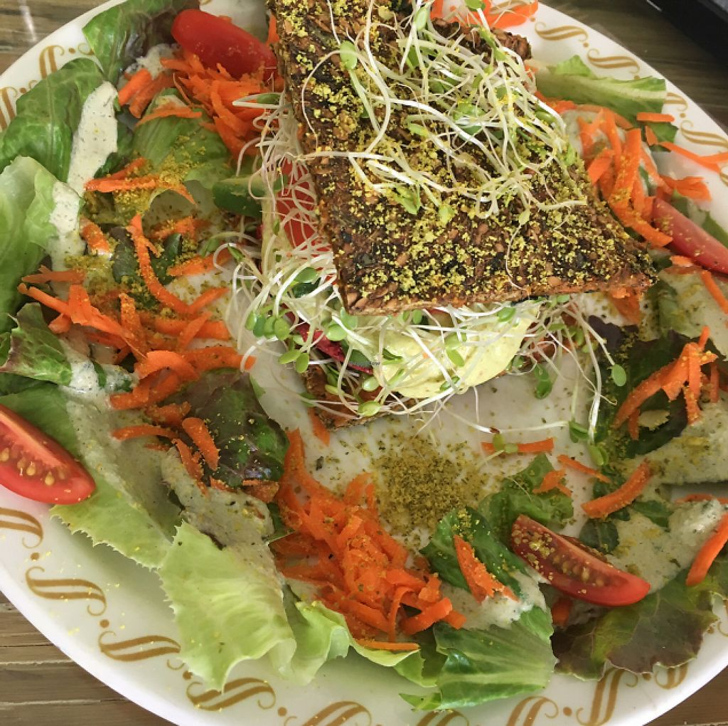 """Photo of Rainbow Living Foods  by <a href=""""/members/profile/Whatresonates"""">Whatresonates</a> <br/>Raw burger <br/> May 13, 2017  - <a href='/contact/abuse/image/23777/258501'>Report</a>"""