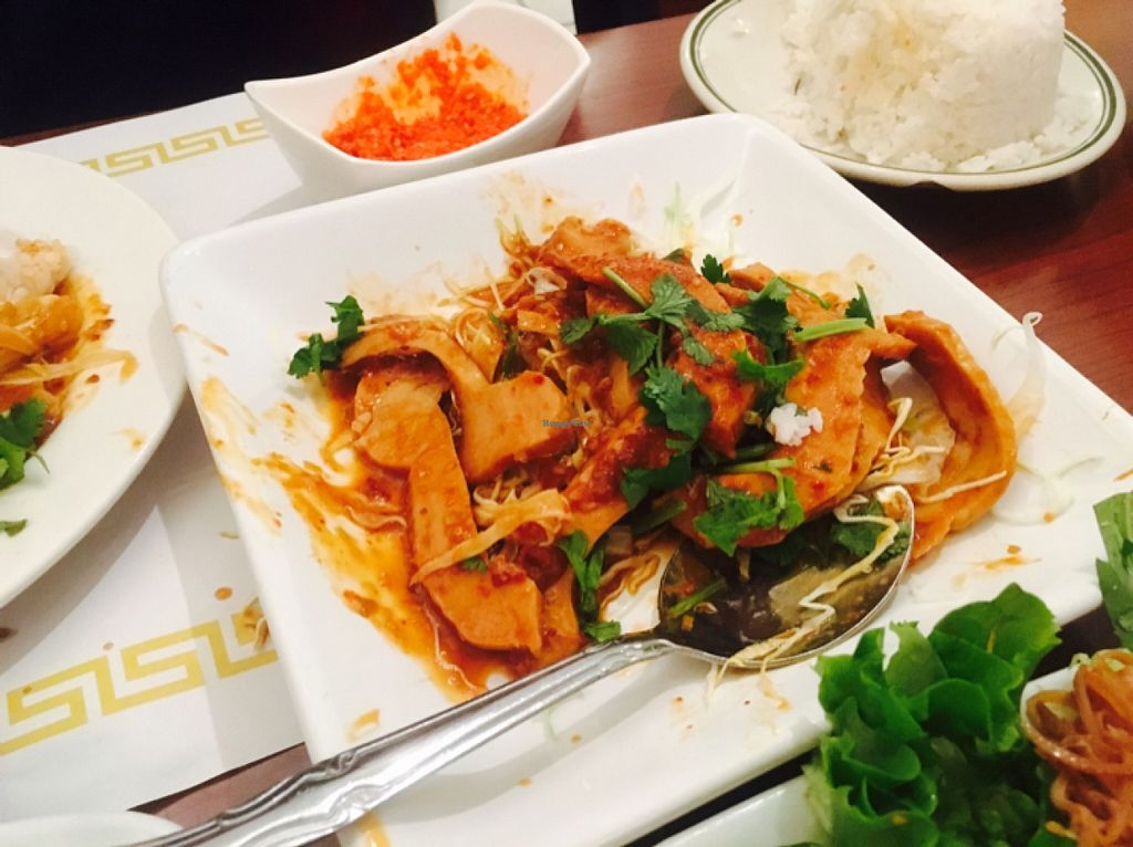 """Photo of Thuyen Vien  by <a href=""""/members/profile/amymylove"""">amymylove</a> <br/>lemongrass chicken extra spicy - another all time fave, the owners homemade hot sauce will kill you <br/> February 5, 2016  - <a href='/contact/abuse/image/23785/135098'>Report</a>"""