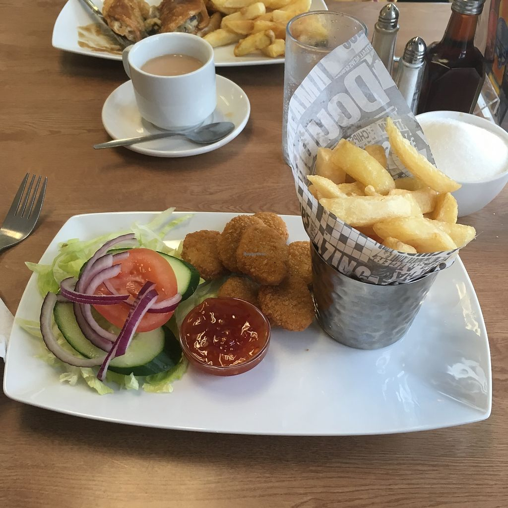 """Photo of Barnacles  by <a href=""""/members/profile/MariRoberts"""">MariRoberts</a> <br/>Vegan chicken nuggets with sweet chilli dip <br/> September 10, 2017  - <a href='/contact/abuse/image/23788/302983'>Report</a>"""