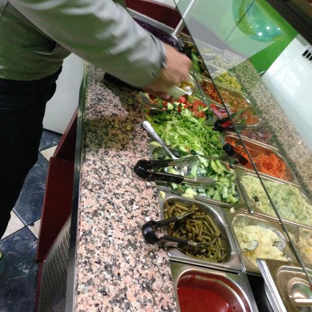 """Photo of Mr Falafel - Lemonnier  by <a href=""""/members/profile/efetcho"""">efetcho</a> <br/>Salad bar is unlimited and free!  <br/> August 15, 2014  - <a href='/contact/abuse/image/23802/77043'>Report</a>"""