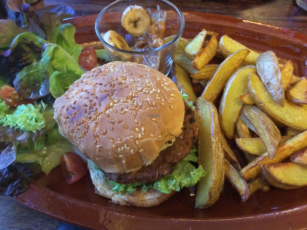 "Photo of Pfannenzauber  by <a href=""/members/profile/VeganBoulder"">VeganBoulder</a> <br/>The Monkeyburger (with banana and peanut butter) - really good! <br/> February 2, 2017  - <a href='/contact/abuse/image/23811/220830'>Report</a>"