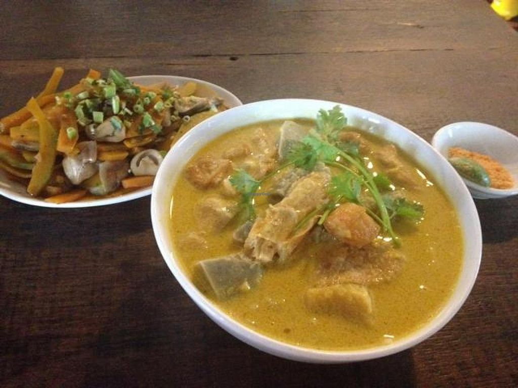"Photo of Saigon Vegan - Vo Van Tan  by <a href=""/members/profile/Kimxula"">Kimxula</a> <br/>curry noodle soup and pumpkin with mushroom <br/> October 14, 2014  - <a href='/contact/abuse/image/23813/82919'>Report</a>"