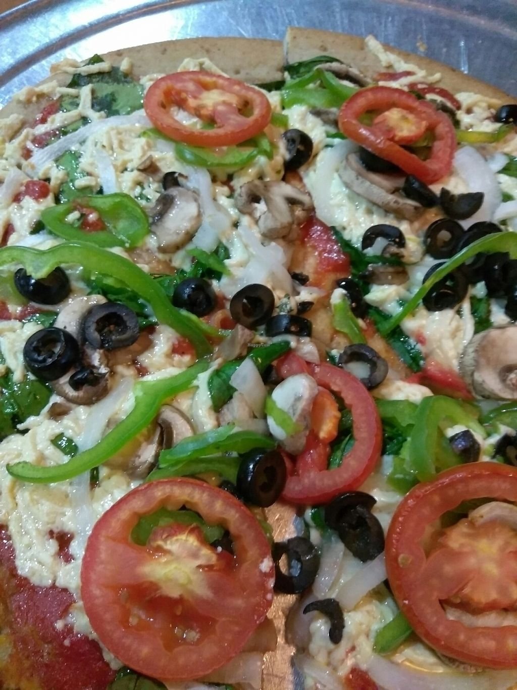 """Photo of Mellow Mushroom  by <a href=""""/members/profile/Tonydetra"""">Tonydetra</a> <br/>vegan pizza happiness <br/> May 14, 2017  - <a href='/contact/abuse/image/23863/258830'>Report</a>"""