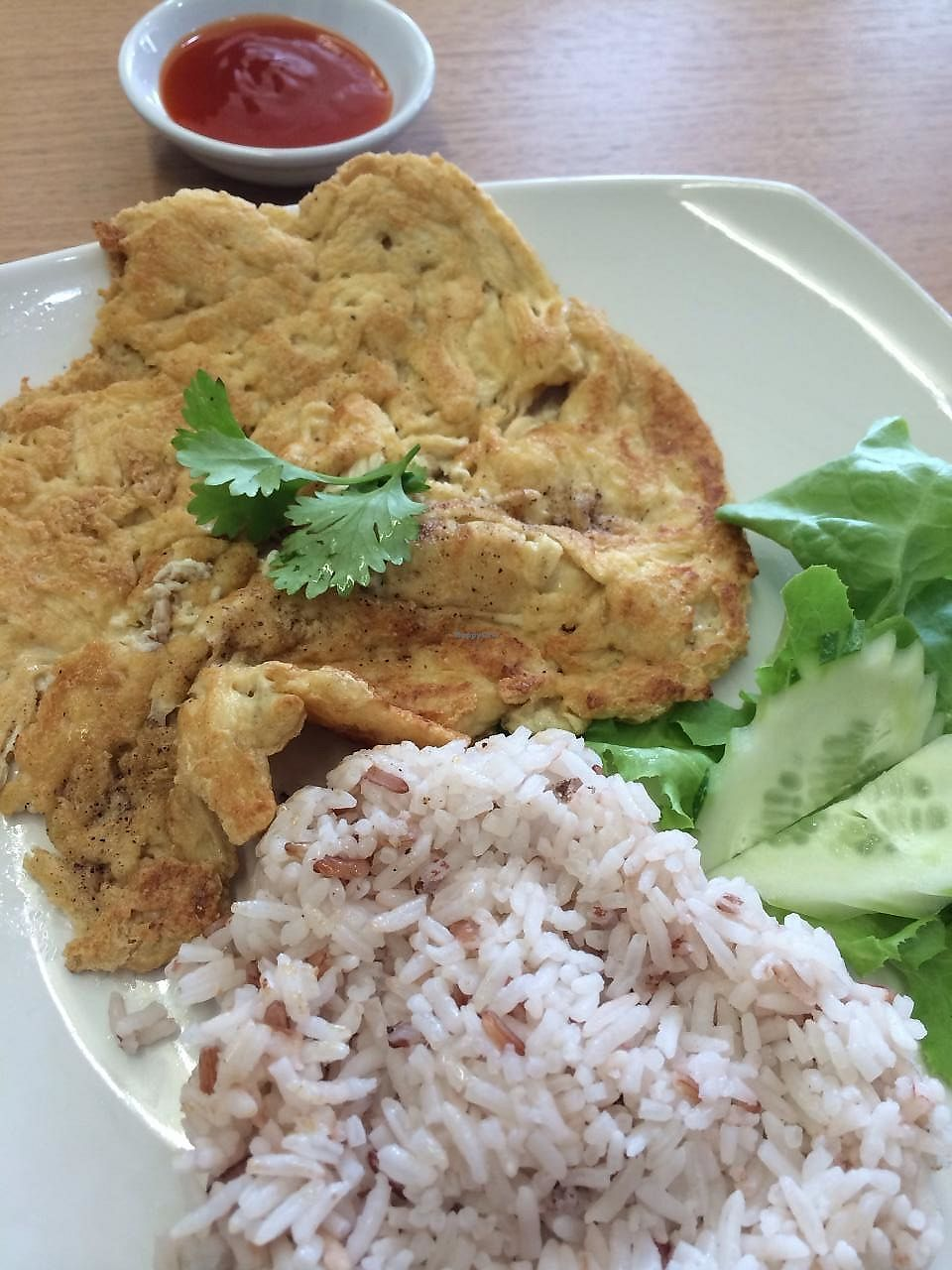 "Photo of Loving Hut - Ram-Intra 51  by <a href=""/members/profile/Wansaree"">Wansaree</a> <br/>Vegan Thai-style omelette  <br/> January 24, 2014  - <a href='/contact/abuse/image/23892/268576'>Report</a>"
