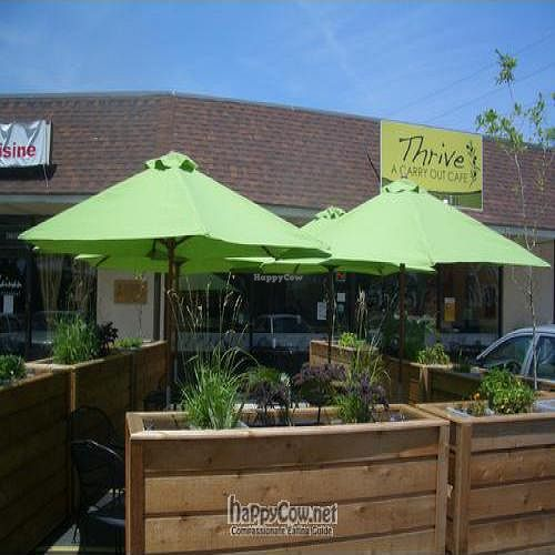 Photo of CLOSED: Thrive Cafe  by thrive <br/>Our green outdoor dining, planted with herbs.  <br/> May 26, 2011  - <a href='/contact/abuse/image/23895/8803'>Report</a>