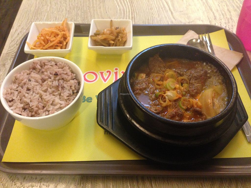 "Photo of Loving Hut Gangnam-gu - 러빙헛  by <a href=""/members/profile/vegeinjapan"">vegeinjapan</a> <br/>Korean bowl <br/> March 21, 2016  - <a href='/contact/abuse/image/23907/140771'>Report</a>"
