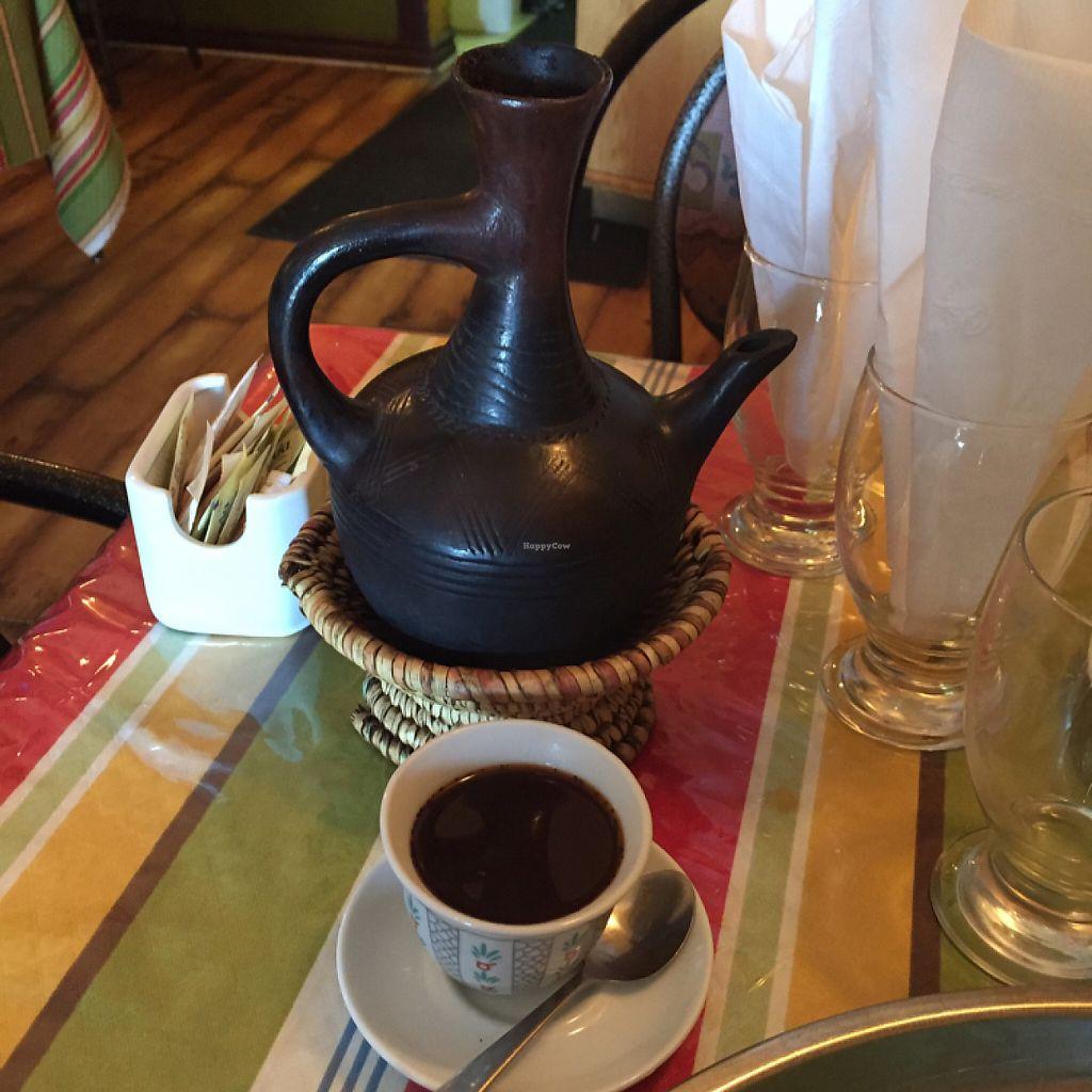 "Photo of Marathon Ethiopian Restaurant  by <a href=""/members/profile/farnorth_starchivore"">farnorth_starchivore</a> <br/>Ethiopian coffee brewed in a traditional way  <br/> June 4, 2017  - <a href='/contact/abuse/image/23921/265582'>Report</a>"