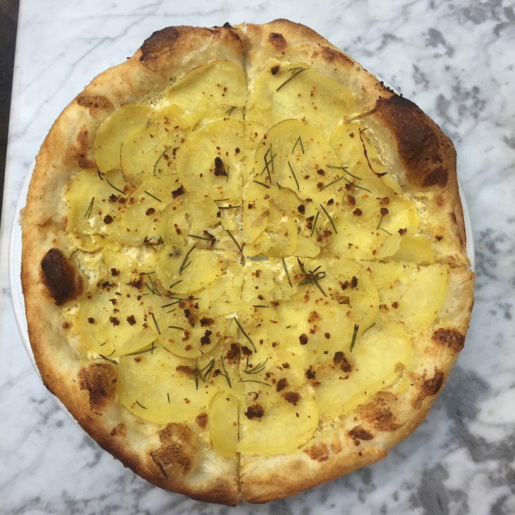 "Photo of Freesoulcaffe  by <a href=""/members/profile/BohemianVeganGypsy"">BohemianVeganGypsy</a> <br/>potato pizza :))) <br/> March 30, 2017  - <a href='/contact/abuse/image/23953/242536'>Report</a>"