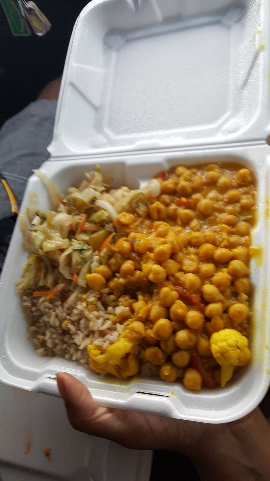 """Photo of Vegetarian Delight  by <a href=""""/members/profile/Tnj0507"""">Tnj0507</a> <br/>Curry chick peas <br/> July 29, 2017  - <a href='/contact/abuse/image/23966/286416'>Report</a>"""