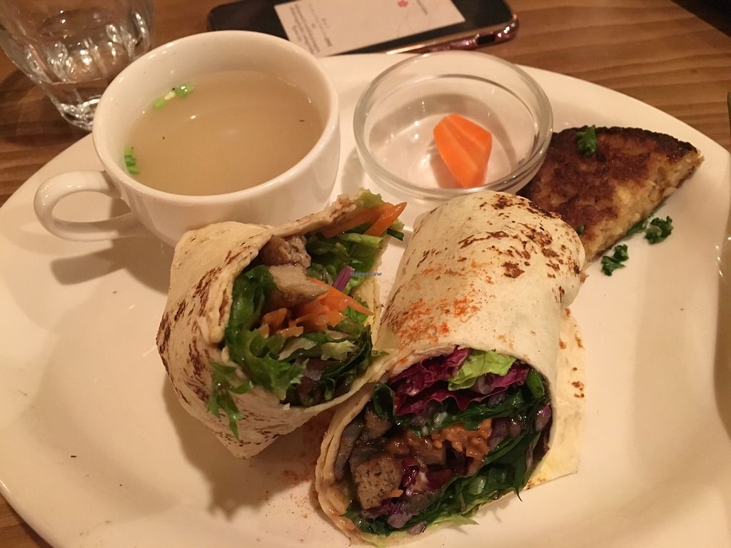 """Photo of Modernark  by <a href=""""/members/profile/Molly.P"""">Molly.P</a> <br/>Gluten-free veggie wrap (half-eaten!)  <br/> December 5, 2017  - <a href='/contact/abuse/image/23973/332504'>Report</a>"""