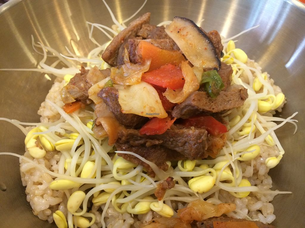 """Photo of Loving Hut  by <a href=""""/members/profile/RenAore"""">RenAore</a> <br/>Close up of the bibimbap  <br/> May 1, 2016  - <a href='/contact/abuse/image/24023/146901'>Report</a>"""