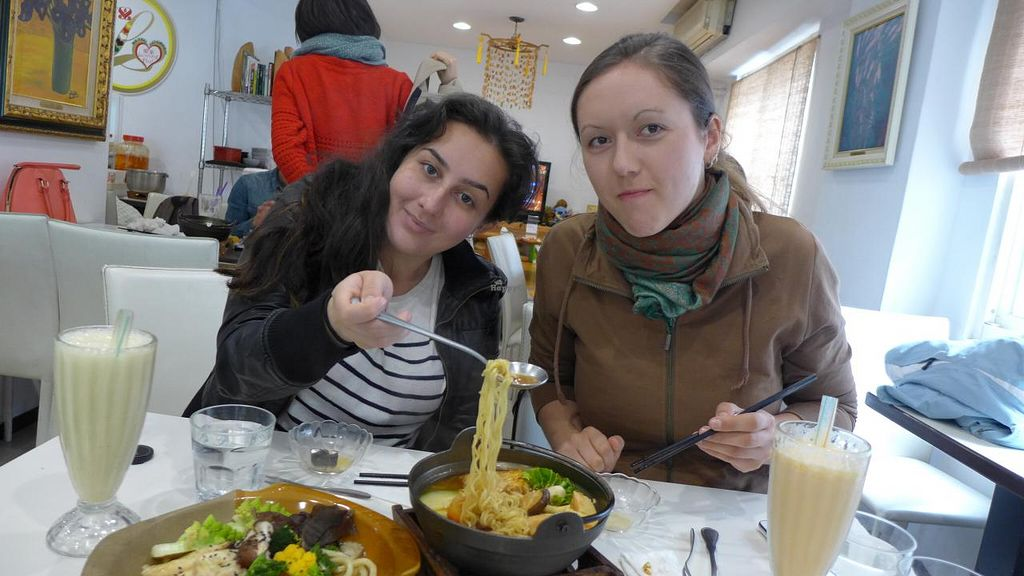 """Photo of Loving Hut - Songde Rd  by <a href=""""/members/profile/Kimxula"""">Kimxula</a> <br/>Enjoying our Loving Hut Sinyi lunch :) <br/> June 15, 2015  - <a href='/contact/abuse/image/24034/106020'>Report</a>"""