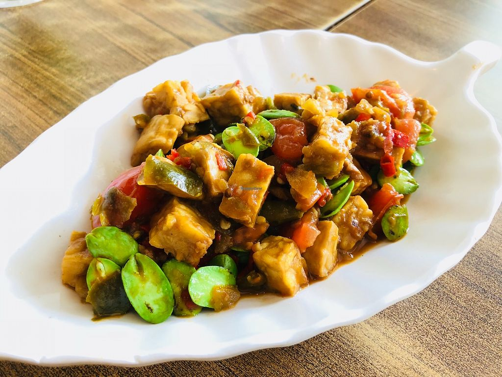 """Photo of Nature Vegetarian Restaurant  by <a href=""""/members/profile/CherylQuincy"""">CherylQuincy</a> <br/>Tempeh with petai beans! A must have <br/> February 27, 2018  - <a href='/contact/abuse/image/24050/364331'>Report</a>"""