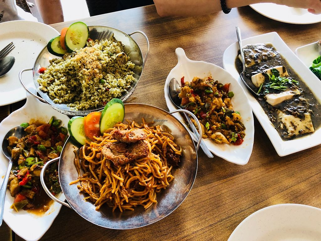 """Photo of Nature Vegetarian Restaurant  by <a href=""""/members/profile/CherylQuincy"""">CherylQuincy</a> <br/>The dishes we tried  <br/> February 27, 2018  - <a href='/contact/abuse/image/24050/364335'>Report</a>"""