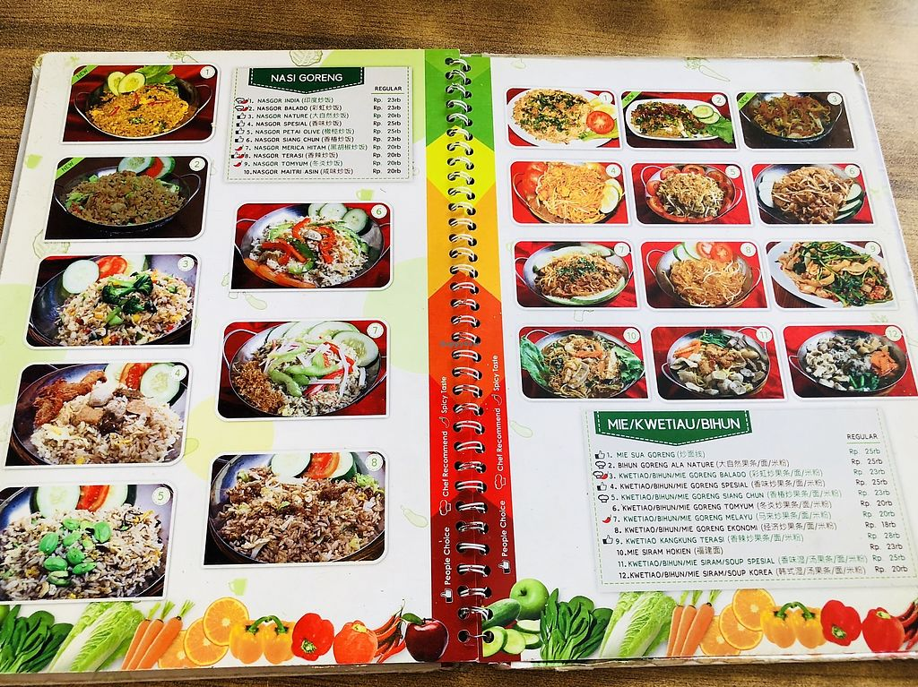 """Photo of Nature Vegetarian Restaurant  by <a href=""""/members/profile/CherylQuincy"""">CherylQuincy</a> <br/>Menu <br/> February 27, 2018  - <a href='/contact/abuse/image/24050/364348'>Report</a>"""