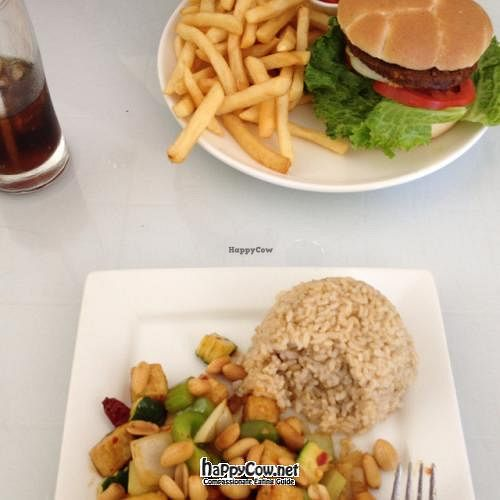 """Photo of Loving Hut - Elk Grove  by <a href=""""/members/profile/Beryl"""">Beryl</a> <br/>Loving Hut Burger and a lunch special <br/> June 21, 2012  - <a href='/contact/abuse/image/24065/33598'>Report</a>"""