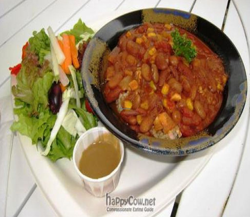 """Photo of Cafe Ono  by <a href=""""/members/profile/tomatochild"""">tomatochild</a> <br/>vegetarian chili <br/> September 11, 2011  - <a href='/contact/abuse/image/24068/199232'>Report</a>"""