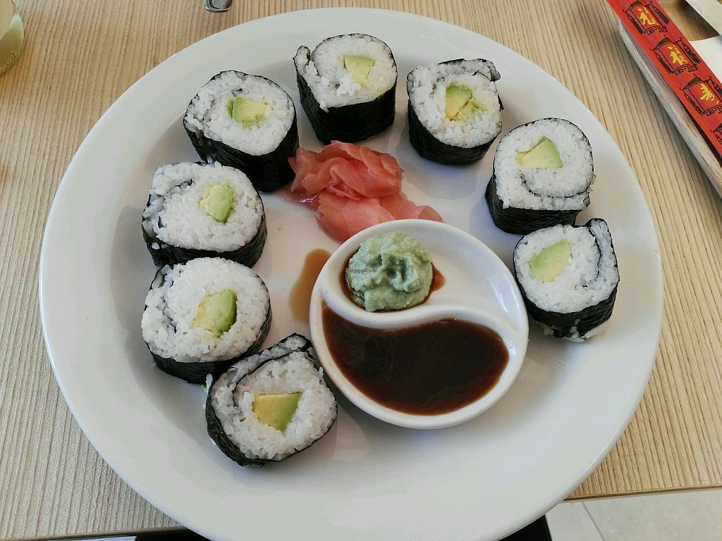 "Photo of Loving Hut - Jugoslavska  by <a href=""/members/profile/BajaSl%C3%A1vikov%C3%A1"">BajaSláviková</a> <br/>avocado sushi <br/> April 20, 2018  - <a href='/contact/abuse/image/24082/388596'>Report</a>"