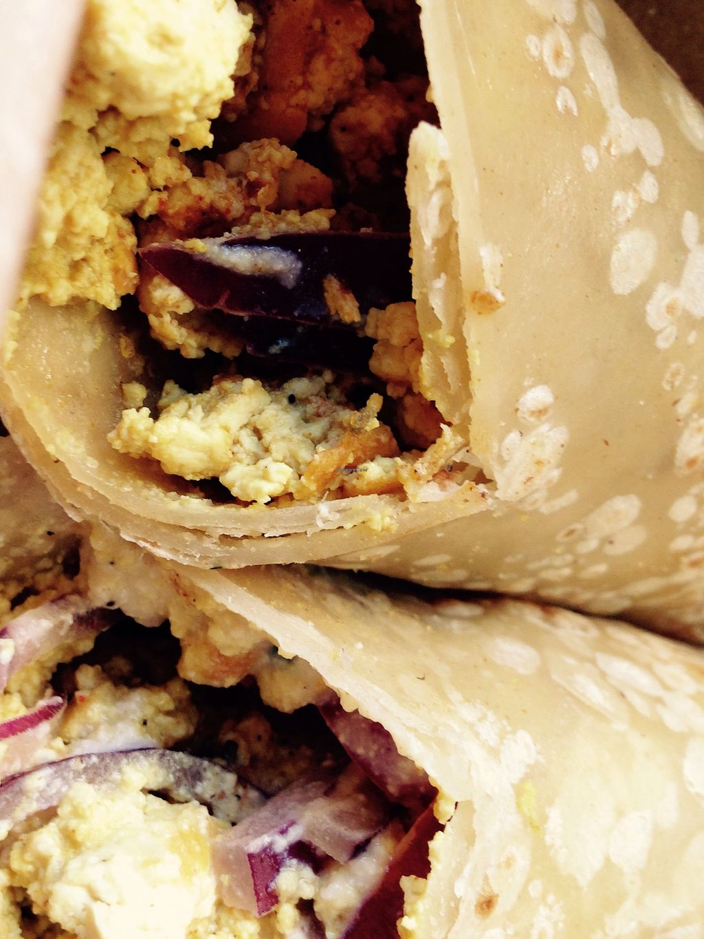 """Photo of Local Sprouts Cafe  by <a href=""""/members/profile/cookiem"""">cookiem</a> <br/>Vegan gf brekkie burrito <br/> August 19, 2015  - <a href='/contact/abuse/image/24091/114285'>Report</a>"""