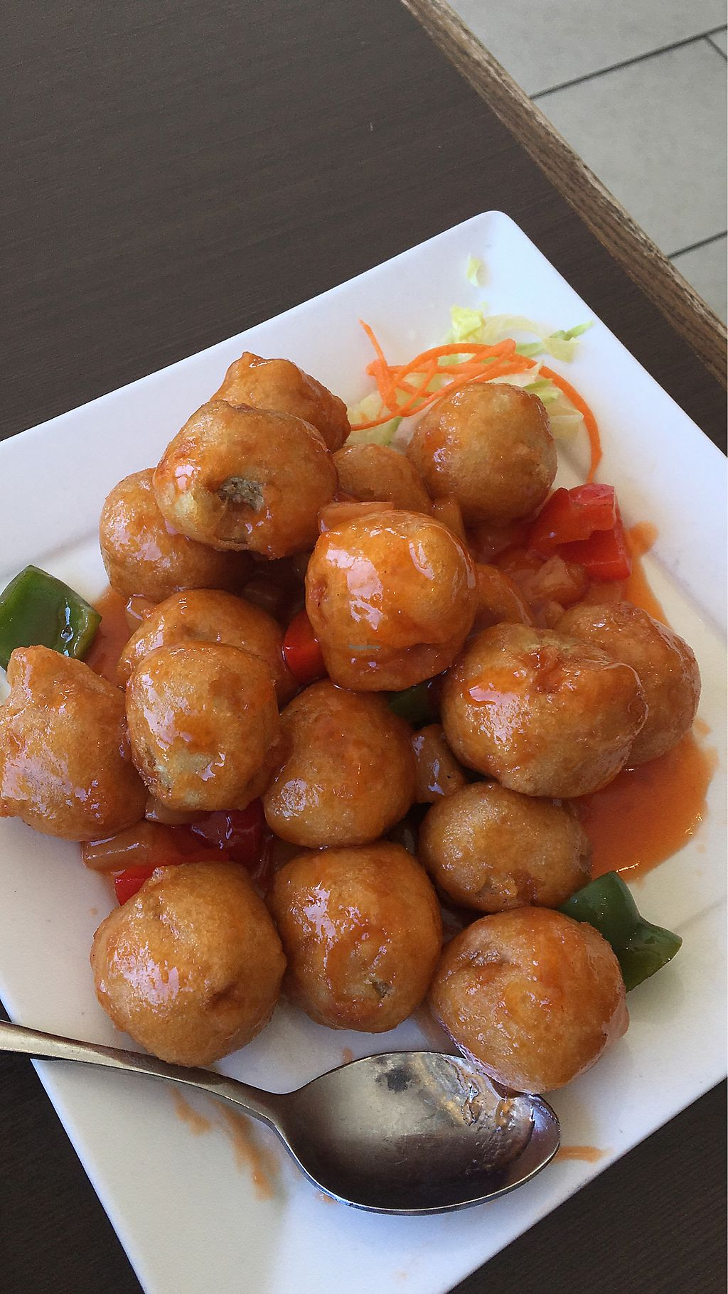 """Photo of Greens Vegetarian Restaurant  by <a href=""""/members/profile/JessicaPNutEsteves"""">JessicaPNutEsteves</a> <br/>Sweet and sour <br/> April 24, 2018  - <a href='/contact/abuse/image/24128/390597'>Report</a>"""