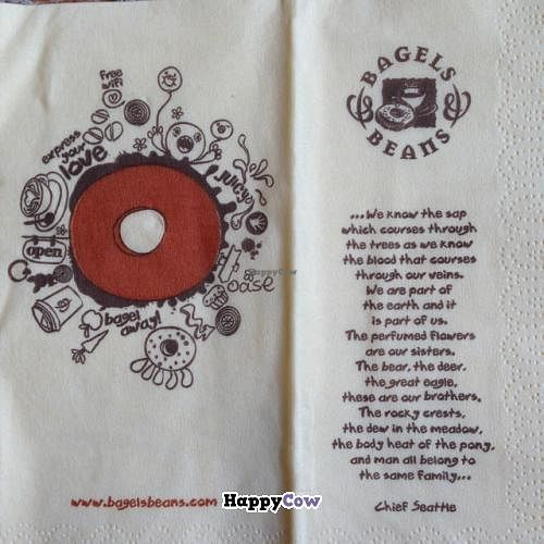 """Photo of Bagels & Beans - Raadhuisstraat  by <a href=""""/members/profile/_mayz_"""">_mayz_</a> <br/>napkin <br/> October 19, 2013  - <a href='/contact/abuse/image/24140/56909'>Report</a>"""