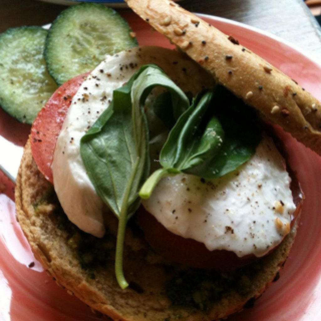 """Photo of Bagels & Beans - Raadhuisstraat  by <a href=""""/members/profile/hack_man"""">hack_man</a> <br/>Mozzarella & Tomato <br/> December 31, 2013  - <a href='/contact/abuse/image/24140/61349'>Report</a>"""