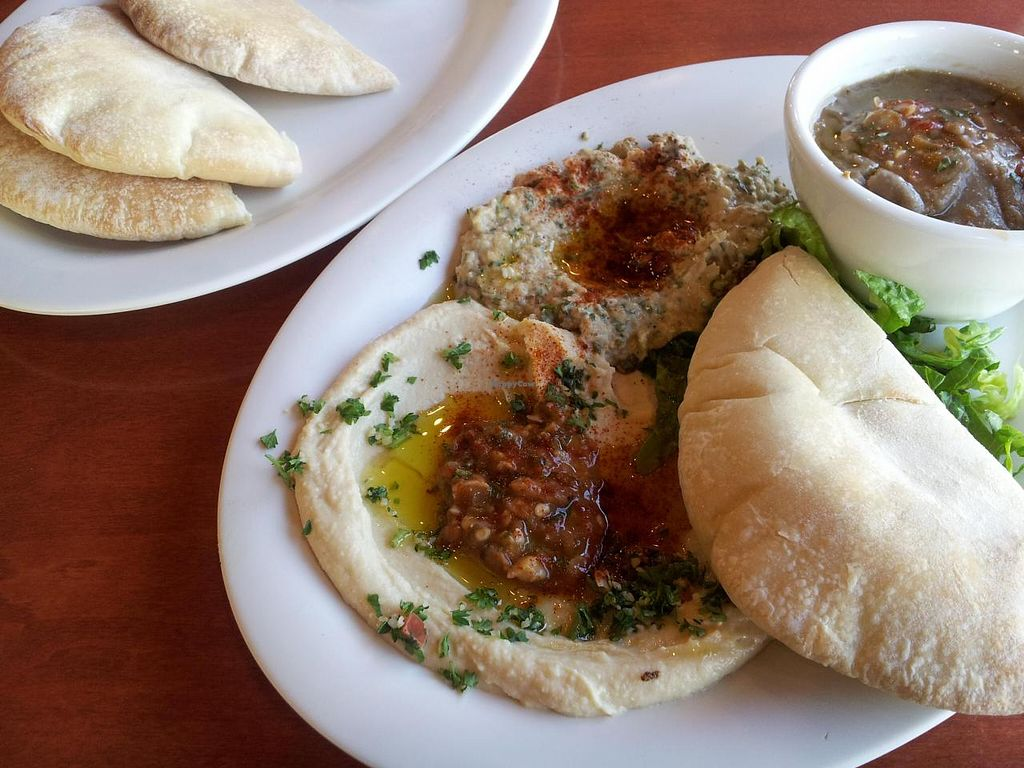 Photo of O'Falafel etc.  by Navegante <br/>03-27-2014, some of my sampler plate.  Really good! <br/> March 27, 2014  - <a href='/contact/abuse/image/24152/66633'>Report</a>