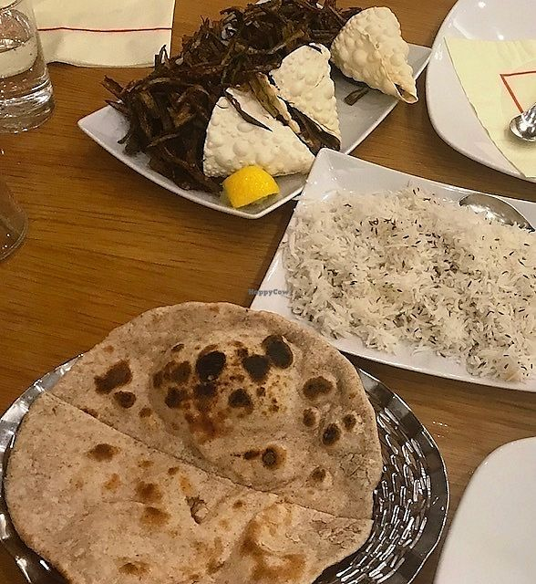 """Photo of Shayona  by <a href=""""/members/profile/MargoLondinium"""">MargoLondinium</a> <br/>Plain Chapatti, Jeera Rice and Spicy Bhindi fries <br/> October 3, 2017  - <a href='/contact/abuse/image/24156/311296'>Report</a>"""