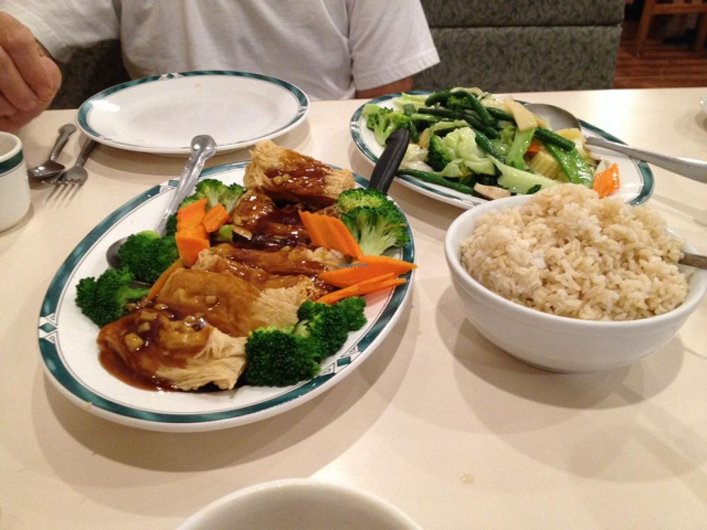 """Photo of Lotus Garden  by <a href=""""/members/profile/Veg4Jay"""">Veg4Jay</a> <br/>Golden Bean Threas with Ginger Sauce <br/> July 12, 2015  - <a href='/contact/abuse/image/2417/109058'>Report</a>"""