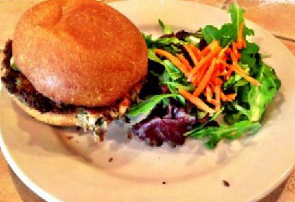 "Photo of Kayak Kafe  by <a href=""/members/profile/Vegvegan"">Vegvegan</a> <br/>black eye- pea burger <br/> February 15, 2013  - <a href='/contact/abuse/image/24189/199100'>Report</a>"