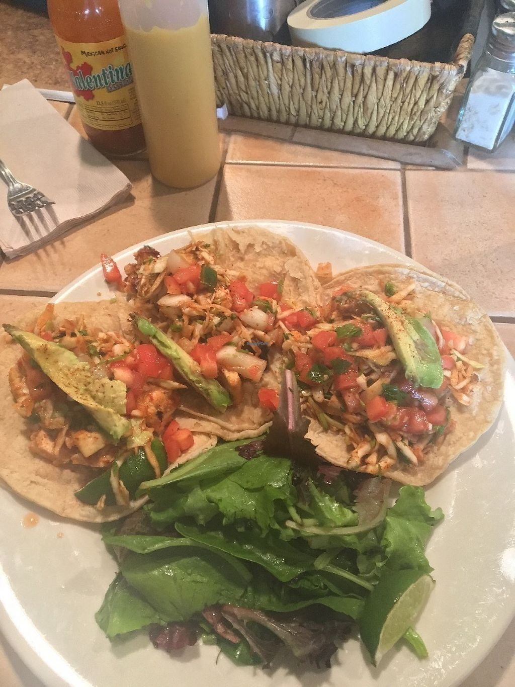"Photo of Kayak Kafe  by <a href=""/members/profile/ireneatlife"">ireneatlife</a> <br/>tiger tofu tacos on corn tortillas  <br/> May 24, 2017  - <a href='/contact/abuse/image/24189/262125'>Report</a>"