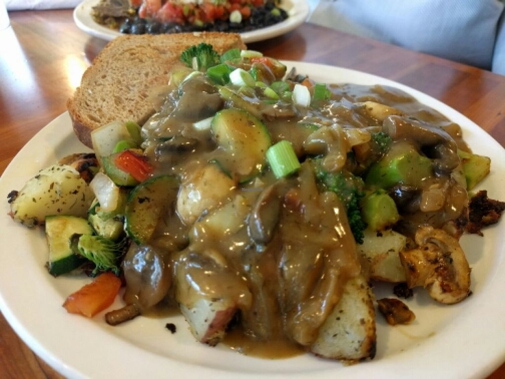 "Photo of Morning Glory Cafe  by <a href=""/members/profile/The%20Hungry%20Vegan"">The Hungry Vegan</a> <br/>Three Sisters with Tantric Mushroom Gravy <br/> May 30, 2016  - <a href='/contact/abuse/image/2418/151448'>Report</a>"