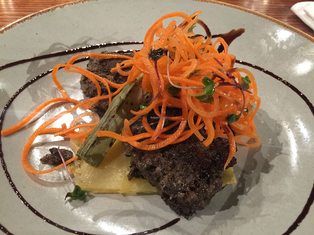 """Photo of Hectors Restaurant  by <a href=""""/members/profile/Tiggy"""">Tiggy</a> <br/>Mushroom mince, palette of potato, grilled artichoke & avocado wasabi - flavour very subtle <br/> December 25, 2017  - <a href='/contact/abuse/image/24198/338956'>Report</a>"""