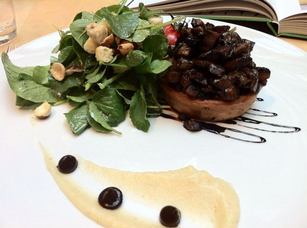 """Photo of Hectors Restaurant  by <a href=""""/members/profile/tararenaemcgee"""">tararenaemcgee</a> <br/>Mushroom tartlet: Cumin and parsnip puree, black garlic, tatsoi, crouton and hazelnut salad. (And the mushrooms had a layer of caramelised onion inside.) <br/> February 19, 2015  - <a href='/contact/abuse/image/24198/93532'>Report</a>"""