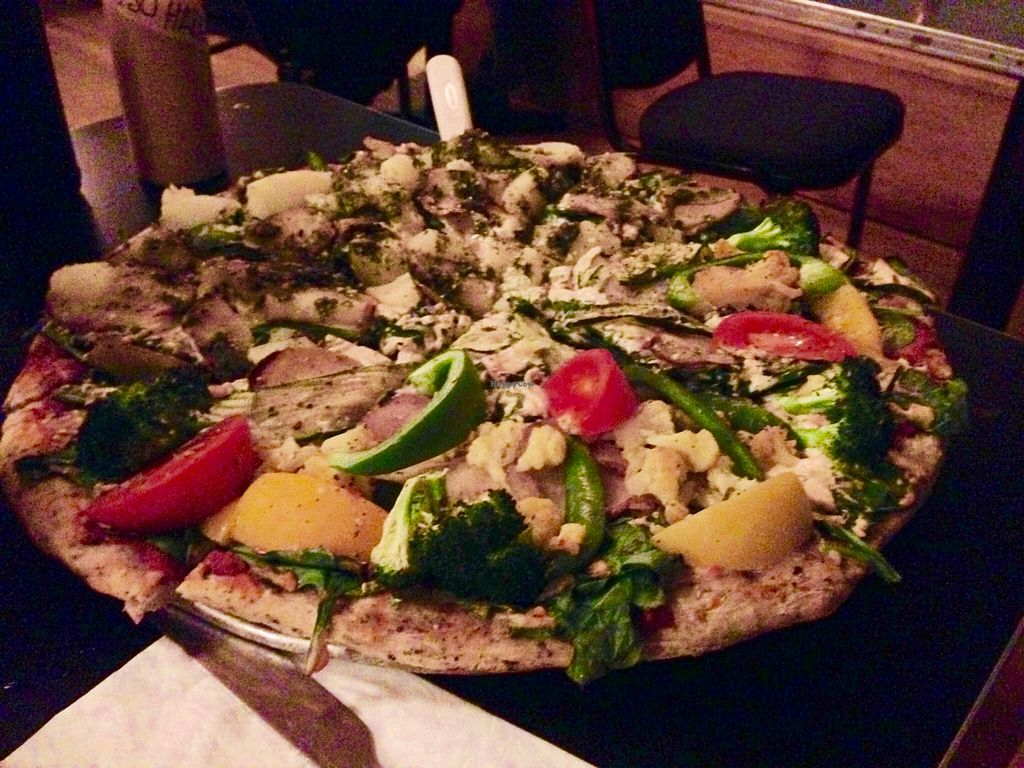 """Photo of Pizza Research Institute  by <a href=""""/members/profile/animalattorney"""">animalattorney</a> <br/>Half 3 P Pizza and Half Chef's Special <br/> March 26, 2016  - <a href='/contact/abuse/image/2419/141414'>Report</a>"""