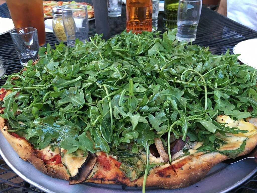 """Photo of Pizza Research Institute  by <a href=""""/members/profile/Veg4Jay"""">Veg4Jay</a> <br/>Arugula, Marinated Portobello, and caramelised Onion <br/> July 9, 2017  - <a href='/contact/abuse/image/2419/278055'>Report</a>"""