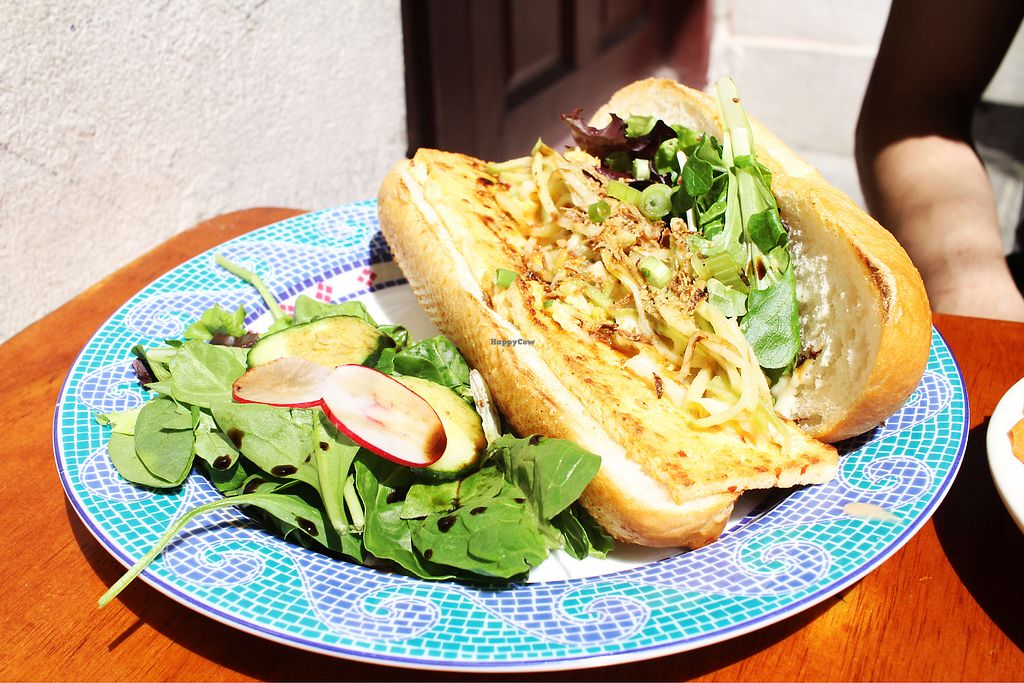 "Photo of Green Goddess  by <a href=""/members/profile/fatlann"">fatlann</a> <br/>Grilled Local Lemongrass Tofu PoBoy <br/> April 9, 2018  - <a href='/contact/abuse/image/24226/383004'>Report</a>"