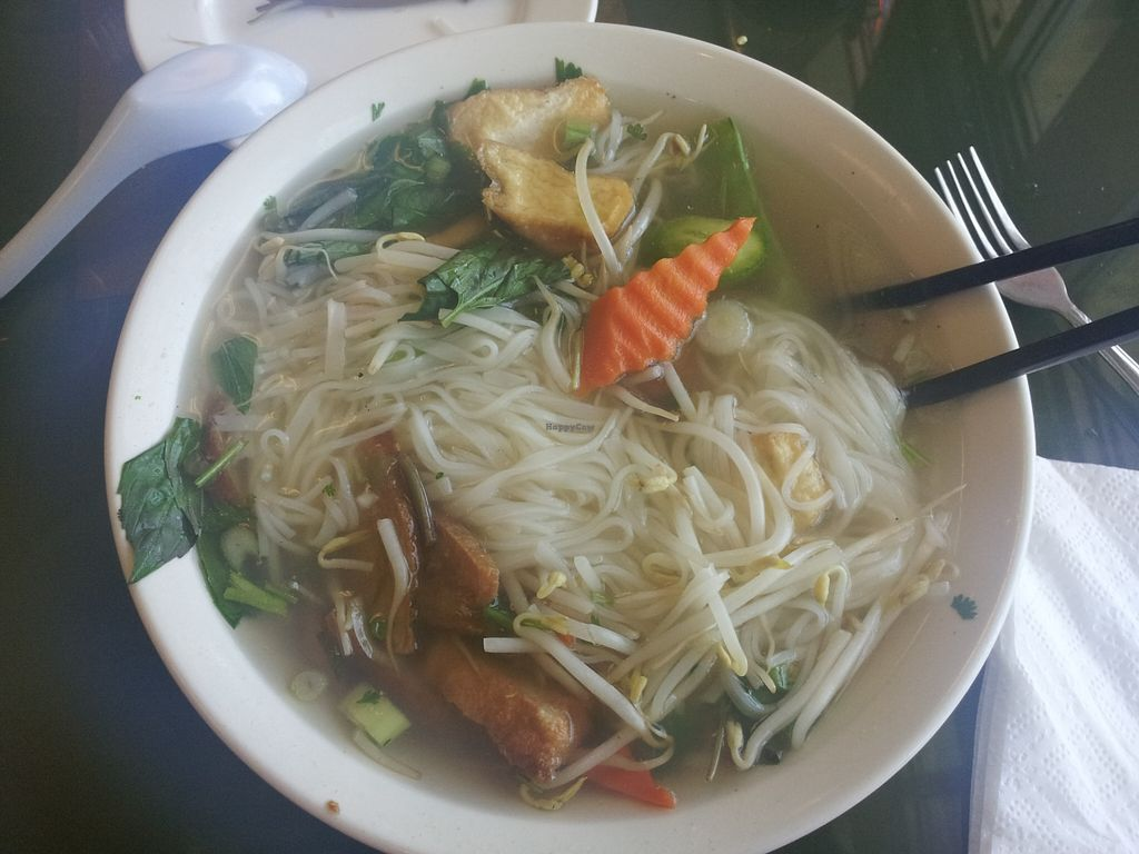 """Photo of Pho Vina  by <a href=""""/members/profile/IngaDThornell"""">IngaDThornell</a> <br/>Small vegan combo pho at Pho Vina <br/> December 21, 2015  - <a href='/contact/abuse/image/24270/129423'>Report</a>"""